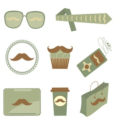 Mustache icons vector