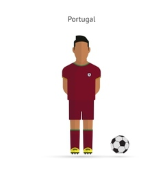 National football player Portugal soccer team vector image