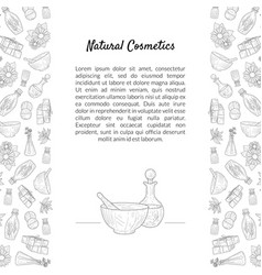 Natural cosmetics banner template with place for vector