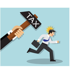 necessity and unwillingness to pay tax vector image