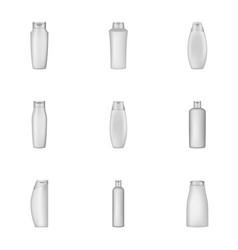 packing shampoo icons set cartoon style vector image