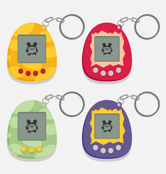Pets pocket game set flat style design - vector