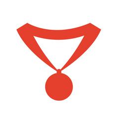 Pictogram medal trophy winner sport icon vector