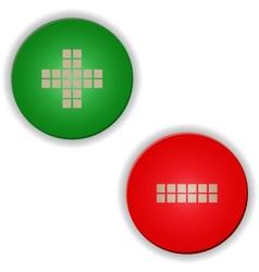 Plus minus buttonssigns vector