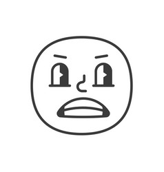 rascal smile fase black and white emoji eps 10 vector image
