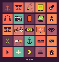 Retro icons set vector