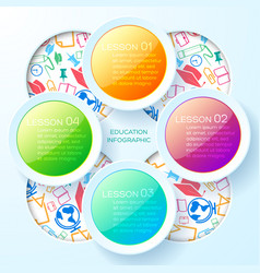 school learning infographic template vector image