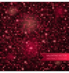 seamless glitter mosaic pink heart texture vector image