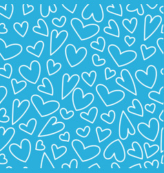 seamless pattern with heart for happy vector image