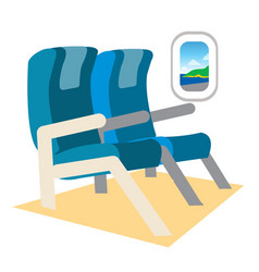 Seats on the plane color on the theme of travel vector
