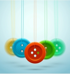 Sewing buttons vector