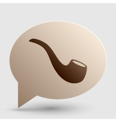 Smoke pipe sign Brown gradient icon on bubble vector