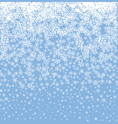 snow background winter holiday snowy seamless vector image