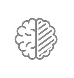 sore human brain line icon cerebral edema vector image