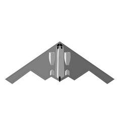 stealth bomber aircraft military attack avionics vector image