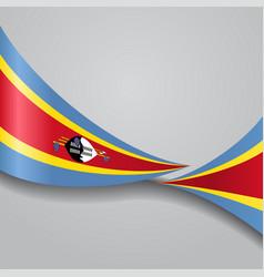 Swaziland wavy flag vector