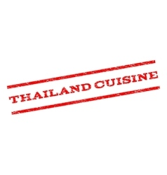 Thailand Cuisine Watermark Stamp vector