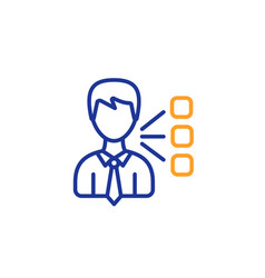 third party line icon team leader sign vector image