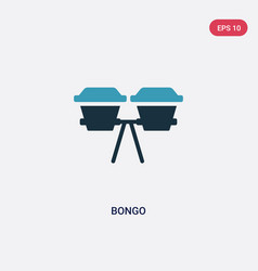 Two color bongo icon from music concept isolated vector