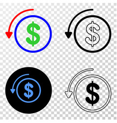 undo payment eps icon with contour version vector image