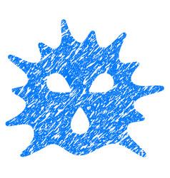 Virus structure grunge icon vector