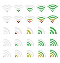 Wi-fi icons vector