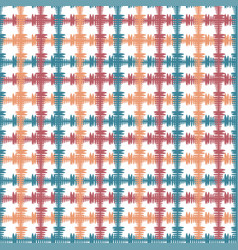 hand drawn seamless pattern with crossing painted vector image vector image