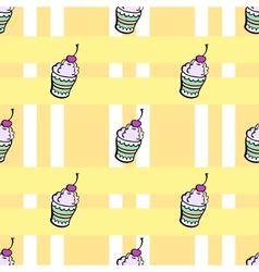 Ice cream pattern2 vector image