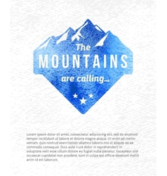 Mountain label vector image vector image