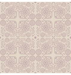 Old-fashioned outline pattern vector image vector image