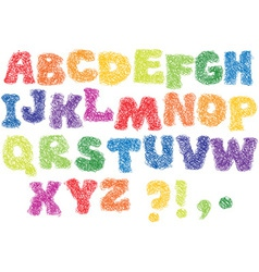 Alphabet scribble letters vector image