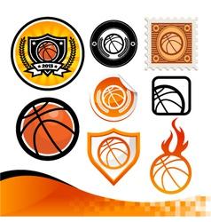 Basketball Design Kit vector image