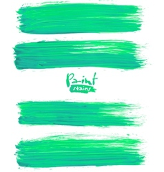 Bright green acrylic brush strokes vector image vector image