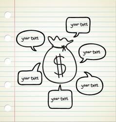 Business Money Talk vector image vector image