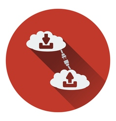 Cloud connection icon vector image