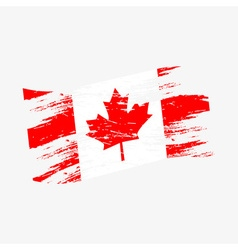 color canada national flag grunge style eps10 vector image