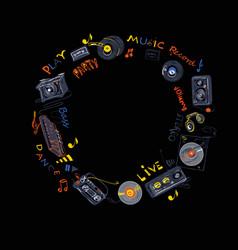 music wreath pattern vector image