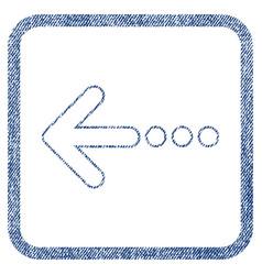 Send left fabric textured icon vector