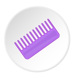 Toothed comb icon cartoon style vector image vector image