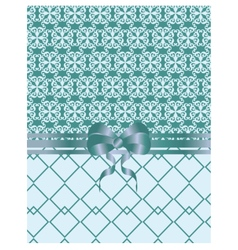 Vintage card with damask ornaments vector image