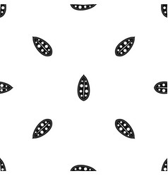 cocoa pod pattern seamless black vector image vector image