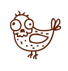 Hand Drawn Skeleton Disguised as a Bird vector image vector image