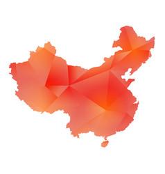 map of china polygon vector image vector image
