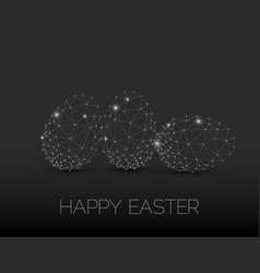 minimalistic geometric happy easter card vector image vector image