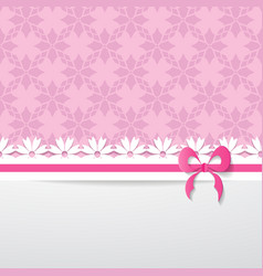 pink greeting card vector image vector image