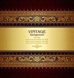 Royal vintage burgundy background vector