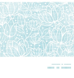 Blue lace flowers textile horizontal frame vector image vector image