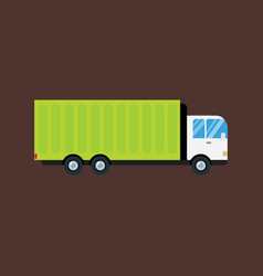 delivery transport cargo logistic truck commercial vector image