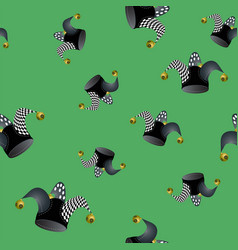 jester hat seamless pattern vector image