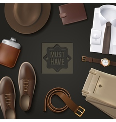 Men Wear Must Have Concept vector image vector image